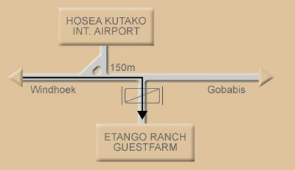 Map Etango Ranch Guestfarm in Windhoek  Khomas  Namibia