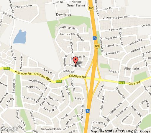 Map Marlé Lodge cc in Germiston  Ekurhuleni (East Rand)  Gauteng  South Africa