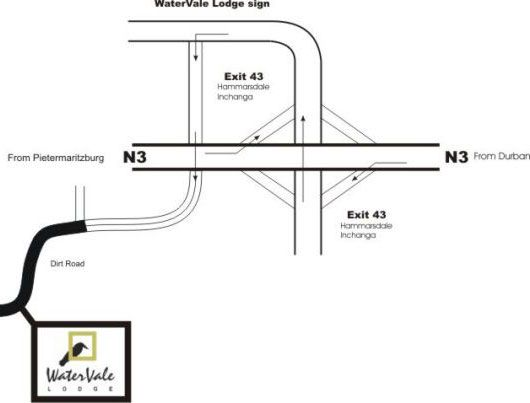 Map Watervale Lodge in Cato Ridge  Durban  Durban and Surrounds  KwaZulu Natal  South Africa