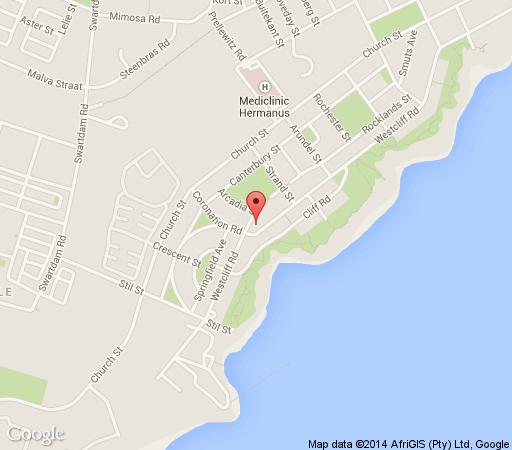 Map Harbour Vue Guest House in Hermanus  Overberg  Western Cape  South Africa