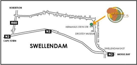Map African Shades B&B Swellendam in Swellendam  Overberg  Western Cape  South Africa
