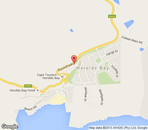 Map Herolds Bay Duttons Cove in Herold's Bay  Garden Route  Western Cape  South Africa