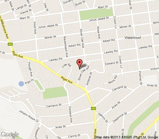Map Silver Oak in Waterkloof  Pretoria East  Pretoria / Tshwane  Gauteng  South Africa