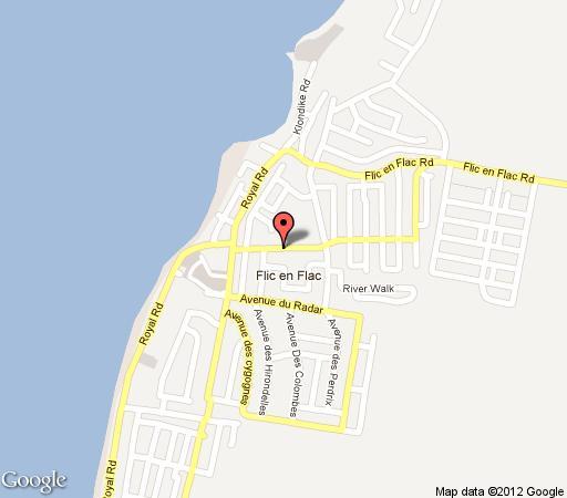 Map Jet Villa in Flic en Flac  Mauritius