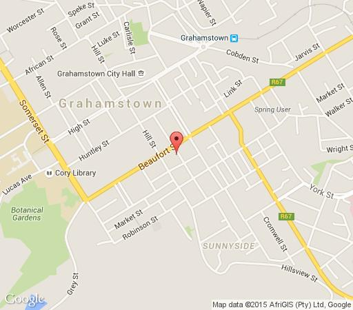 Map Bartholomew\'s Loft in Grahamstown  Cacadu (Sarah Baartman)  Eastern Cape  South Africa