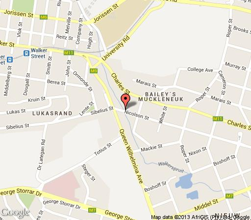 Map Touch of Class Guesthouse in Brooklyn (PTA)  Pretoria Central  Pretoria / Tshwane  Gauteng  South Africa