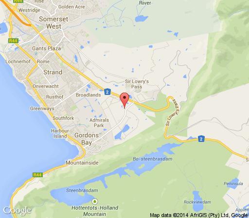 Map Coachman\'s Cottage in Gordon's Bay  Helderberg  Western Cape  South Africa