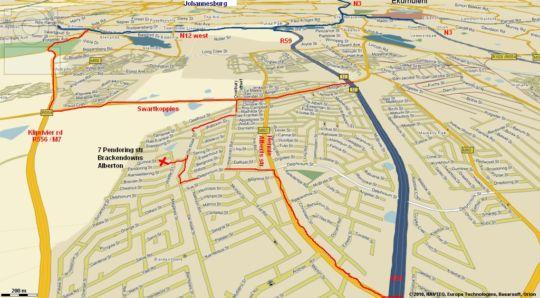 Map Fond Memories in Brackendowns  Alberton  Ekurhuleni (East Rand)  Gauteng  South Africa