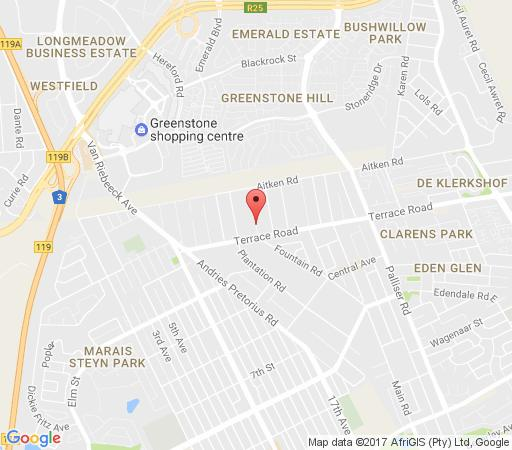 Map El Gecko Bed & Breakfast in Edenvale  Ekurhuleni (East Rand)  Gauteng  South Africa
