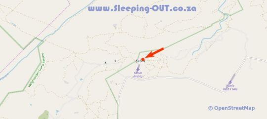 Map Kololo Game Reserve in Vaalwater  Waterberg  Bushveld  Limpopo  South Africa