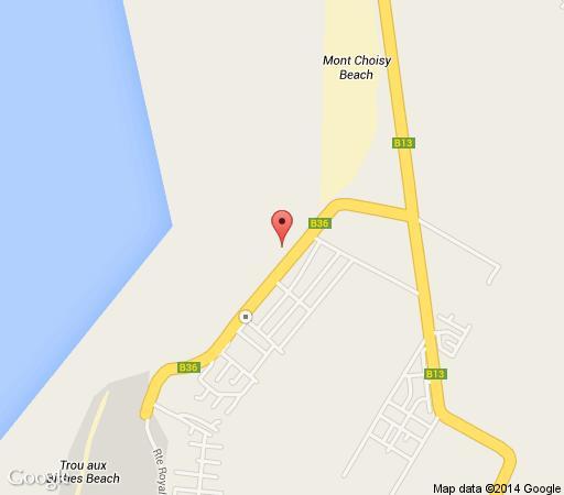 Map Beach Villas in Mont Choisy  Mauritius