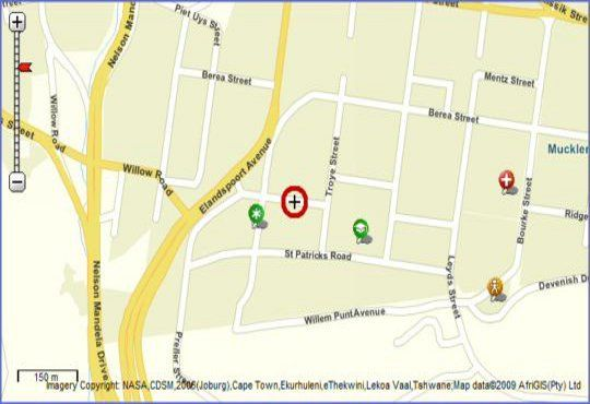 Map 186Ridge in Muckleneuk Ridge  Pretoria Central  Pretoria / Tshwane  Gauteng  South Africa