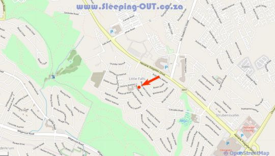 Map Homestay Travel Guest House in Little Falls  Roodepoort  West Rand  Gauteng  South Africa