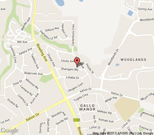 Map Shangani Lodge in Gallo Manor  Sandton  Johannesburg  Gauteng  South Africa