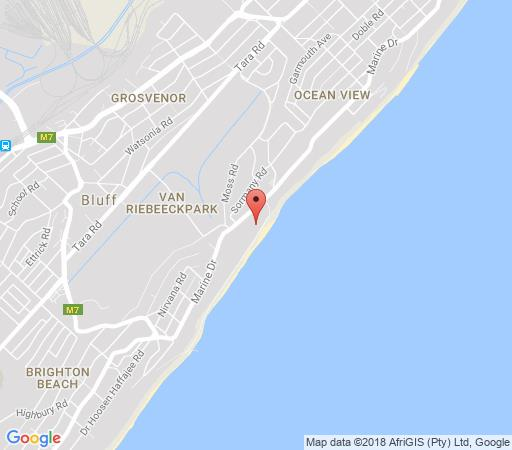 Map Lisa\'s Guesthouse in Bluff  Durban  Durban and Surrounds  KwaZulu Natal  South Africa