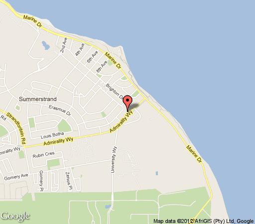 Map Mlkwoodsands in Summerstrand  Port Elizabeth  Cacadu (Sarah Baartman)  Eastern Cape  South Africa