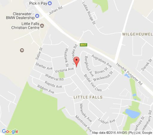 Map Homestay BnB Guesthouse in Little Falls  Roodepoort  West Rand  Gauteng  South Africa