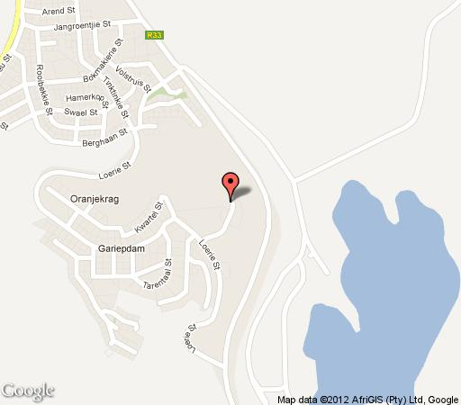 Map de Stijl Gariep Hotel in Gariep Dam  Xhariep (Southern Free State)  Free State  South Africa