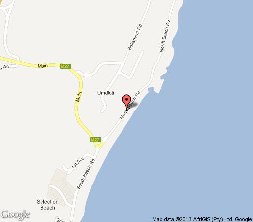 Map 30 Degrees in Umdloti  North Coast (KZN)  KwaZulu Natal  South Africa