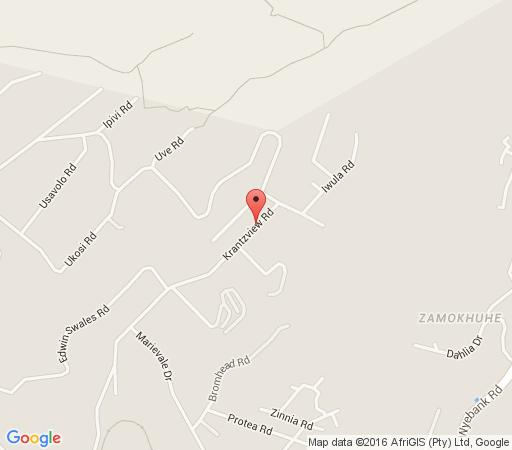 Map Bizafrika Guest Lodge in Kloof  Western Suburbs (DBN)  Durban and Surrounds  KwaZulu Natal  South Africa