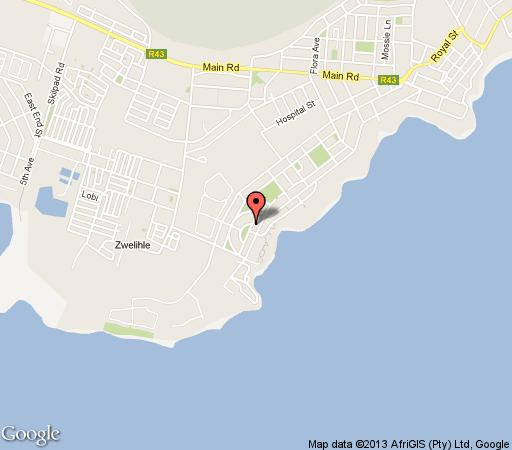 Map Palm Tree Cottage in Hermanus  Overberg  Western Cape  South Africa