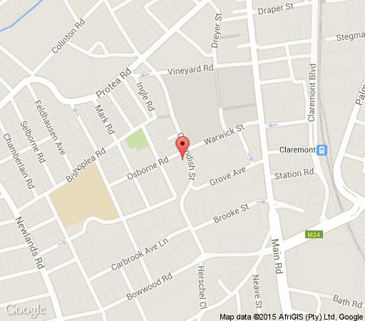 Map Apartment 203 on Cavendish in Claremont  Southern Suburbs (CPT)  Cape Town  Western Cape  South Africa