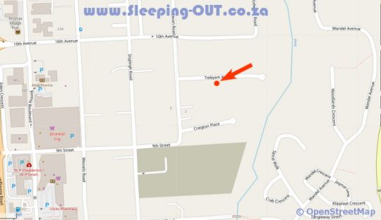 Map Bellgrove Guest House Sandton in Rivonia  Sandton  Johannesburg  Gauteng  South Africa