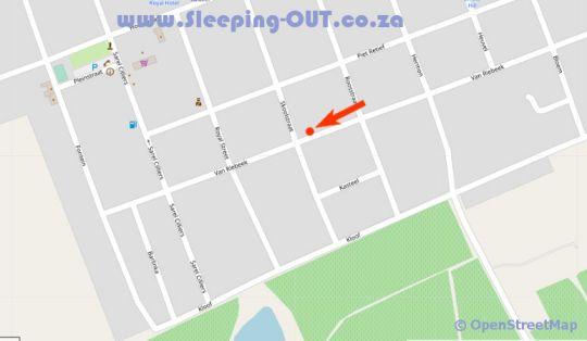 Map De Oude Kasteel in Riebeek Kasteel  Cape Winelands  Western Cape  South Africa