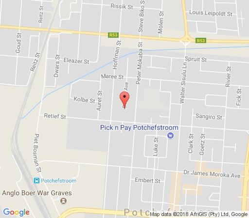 Map Beukes Guesthouse in Potchefstroom  Southern (NW)  North West  South Africa