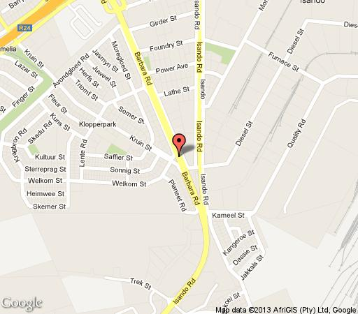 Map Ecotel OR Tambo Airport in Kempton Park  Ekurhuleni (East Rand)  Gauteng  South Africa