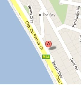 Map Beachboulevard102 in Bloubergstrand  Blaauwberg  Cape Town  Western Cape  South Africa