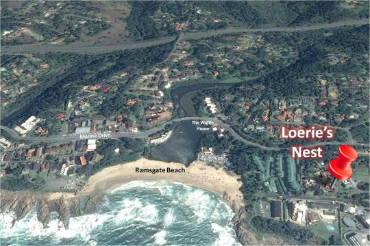 Map Loerie\'s Nest in Ramsgate  South Coast (KZN)  KwaZulu Natal  South Africa