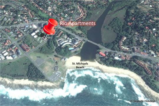 Map 9 Rio in St Michaels-on-Sea  South Coast (KZN)  KwaZulu Natal  South Africa