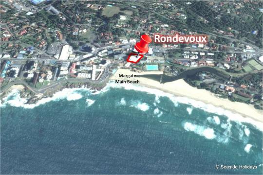 Map Rondevoux in Margate  South Coast (KZN)  KwaZulu Natal  South Africa