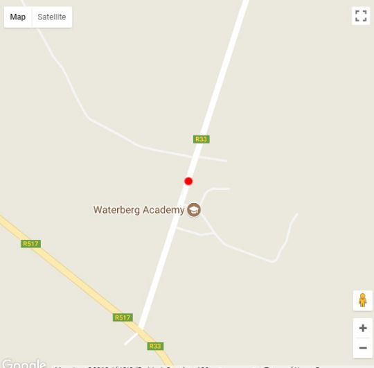 Map Dinkweng Safari Camp in Vaalwater  Waterberg  Bushveld  Limpopo  South Africa