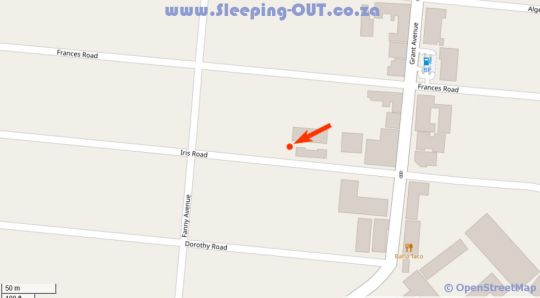 Map Houghton Guest House in Norwood  Sandton  Johannesburg  Gauteng  South Africa