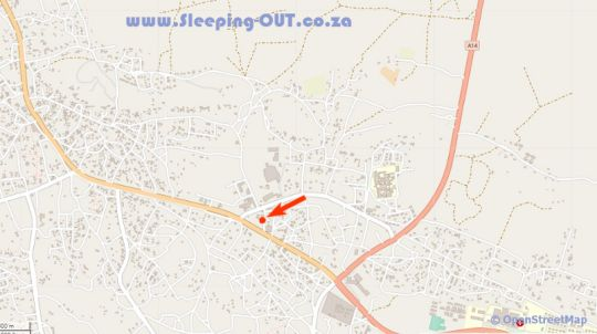 Map Hotel 23 in Serowe  Botswana