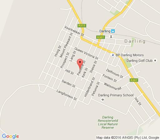 Map Darling Lodge Guest House in Darling  Swartland  Western Cape  South Africa