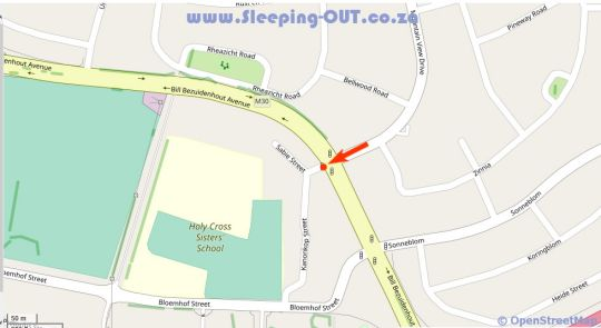 Map Serengeti Self Catering Units in Bellville  Northern Suburbs (CPT)  Cape Town  Western Cape  South Africa