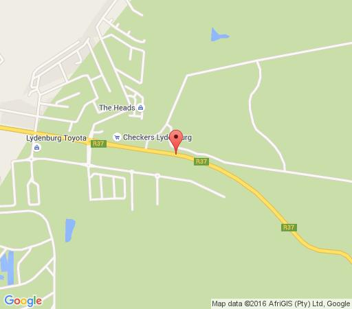 Map Black Leopard Camp in Lydenburg  Highlands  Mpumalanga  South Africa