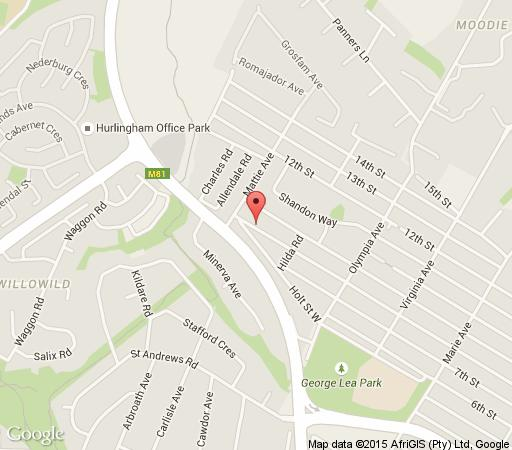 Map The Green House Cottage in Parkmore  Sandton  Johannesburg  Gauteng  South Africa