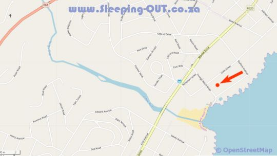 Map Driftsands Holiday Flats in Uvongo  South Coast (KZN)  KwaZulu Natal  South Africa