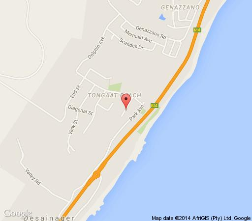 Map La-Peng Guest House in La Mercy Beach  North Coast (KZN)  KwaZulu Natal  South Africa