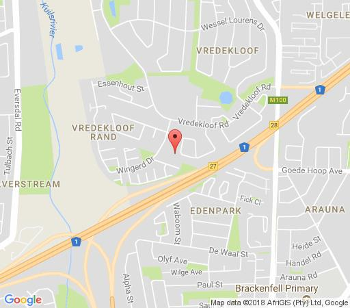 Map De Vrede Guest House in Brackenfell  Northern Suburbs (CPT)  Cape Town  Western Cape  South Africa