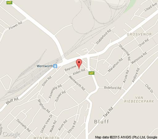 Map Alden Cottages in Bluff  Durban  Durban and Surrounds  KwaZulu Natal  South Africa