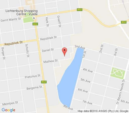 Map Indigo Moon Guesthouse in Lichtenburg  Central (NW)  North West  South Africa