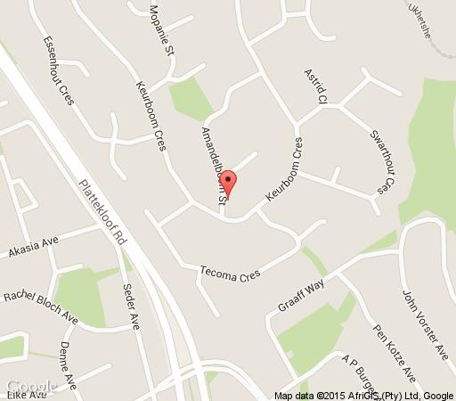 Map Monteverdi House in Plattekloof  Northern Suburbs (CPT)  Cape Town  Western Cape  South Africa