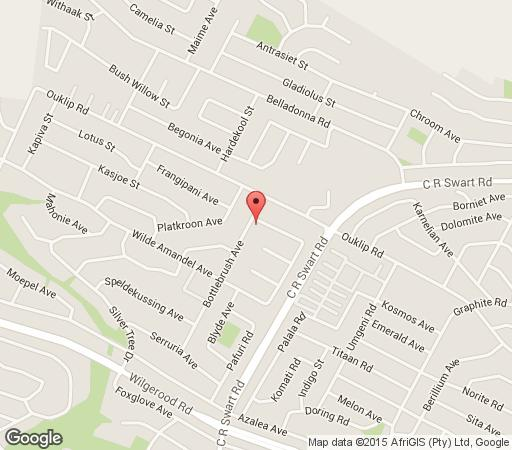 Map Roodepoort B&B in Roodekrans  Roodepoort  West Rand  Gauteng  South Africa