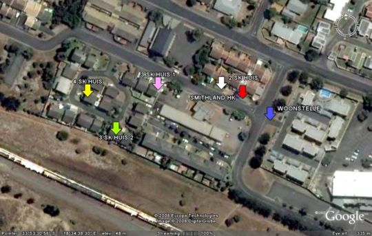 Map Smithland Guest Apartments in Parow  Northern Suburbs (CPT)  Cape Town  Western Cape  South Africa