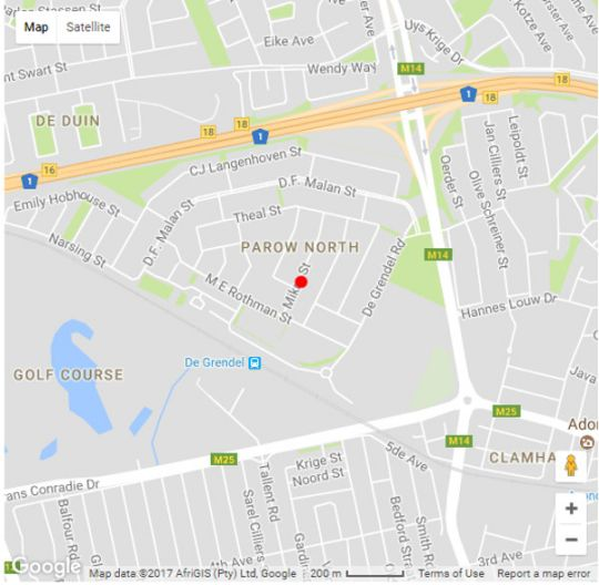 Map Three Arches Guest House in Parow  Northern Suburbs (CPT)  Cape Town  Western Cape  South Africa